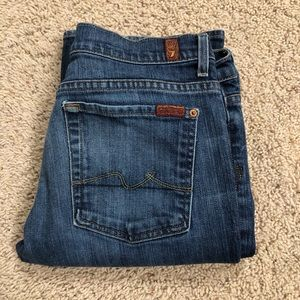 7 For All Mankind Boycut Button fly jeans